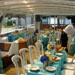 Dining area of charter yacht Miss Toronto
