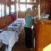 Preparation of bar area on charter yacht Miss Toronto