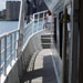 Wrap-around deck access on charter yacht Miss Toronto