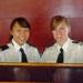 Uniformed female crew of charter yacht Miss Toronto